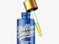 Glossy Dropper Bottle Mockup