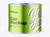 Metallic Can Mockup