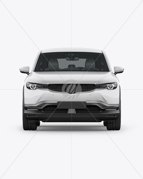 Compact Crossover SUV Mockup - Font View