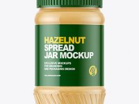 Hazelnut Spread Jar Mockup