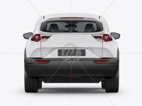 Compact Crossover SUV Mockup - Back View