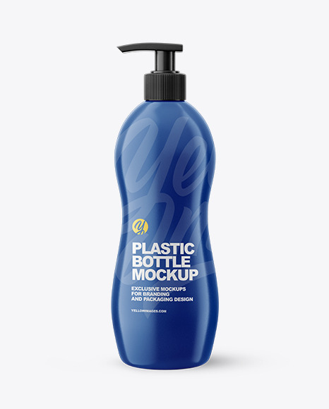 Glossy Plastic Bottle with Pump