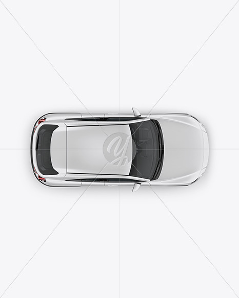 Compact Crossover SUV Mockup - Top View