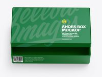 Paper Shoes Box Mockup