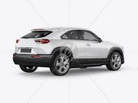 Compact Crossover SUV Mockup - Back Half Side