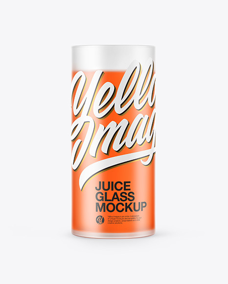 Frosted Glass with Juice Mockup