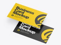 Two Paper Business Cards Mockup