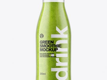Green Smoothie Bottle Mockup
