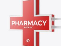 Matte Pharmacy Signage w/ Glossy Frame