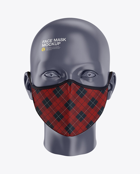 Face Mask Mockup - Front View