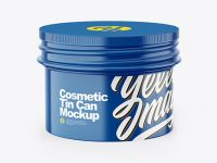 Glossy Cosmetic Tin Can Mockup