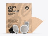 Kraft Box With Coffee Capsules Mockup