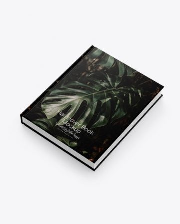 Hardcover Book w/ Fabric Cover Mockup