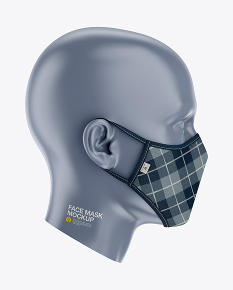 Face Mask Mockup - Side View