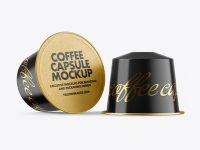 Two Coffee Capsules Mockup