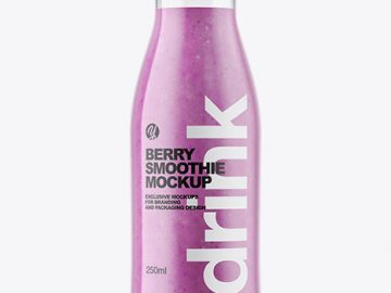 Berry Smoothie Bottle Mockup