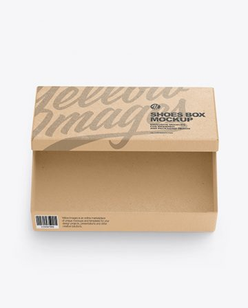 Kraft Shoes Box Mockup