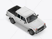 Pickup Truck Mockup - Top HalfSide View