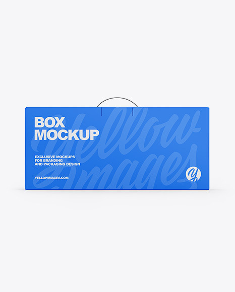 Paper Box With Handle Mockup