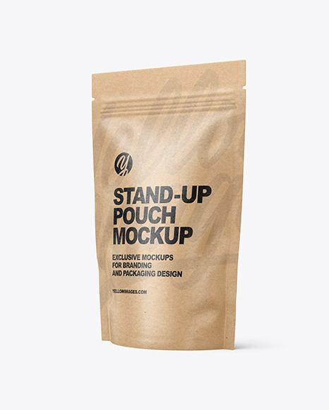 Kraft Paper Stand-up Pouch Mockup