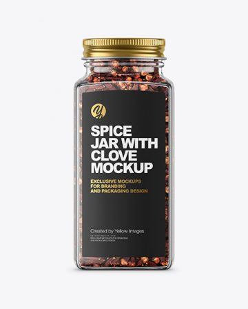 Spice Jar with Clove Mockup