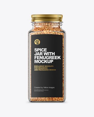 Spice Jar with Fenugreek Mockup