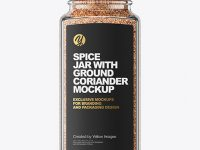 Spice Jar with Ground Coriander Mockup