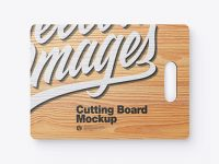 Wooden Cutting Board Mockup