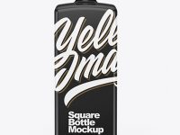 Glossy Square Bottle Mockup