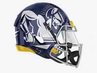 American Football Helmet Mockup - Side View