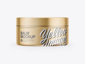 Metallic Lip Balm Jar Mockup
