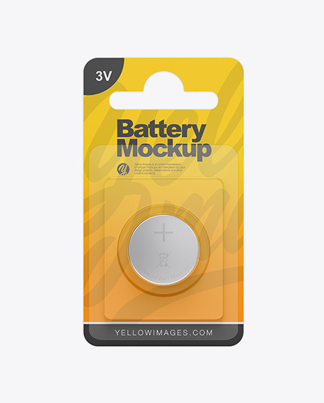 Button Cell Baterry Pack Mockup