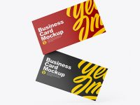 Two Glossy Business Cards Mockup