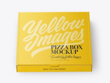 Closed Matte Pizza Box Mockup