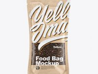 Kraft Food Bag With Black Pepper Mockup