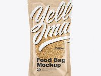 Kraft Food Bag With Nuts Mockup