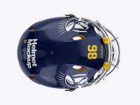 American Football Helmet Mockup - Top View