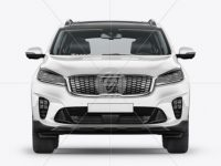 Crossover SUV Mockup - Front View
