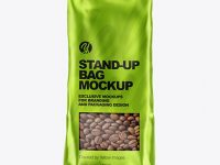 Metallic Stand-up Bag Mockup