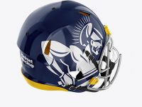 American Football Helmet Mockup - Top Back HalfSide View
