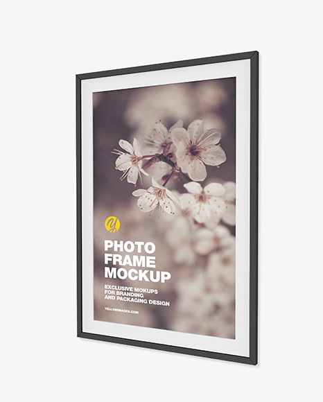 Photo Frame Mockup -Right Side View
