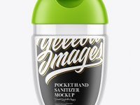Transparent Pocket Hand Sanitizer Mockup