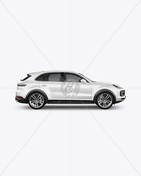 Luxury Crossover Mockup - Side View