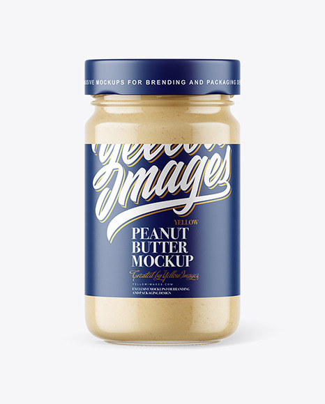 Clear Glass Jar with Powdered Peanut Butter Mockup