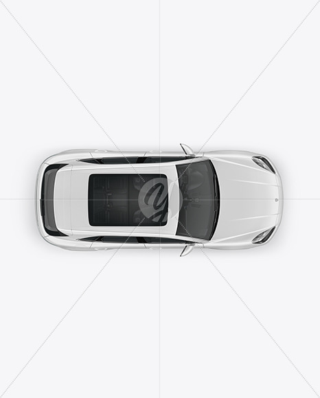 Luxury Crossover Mockup - Top View