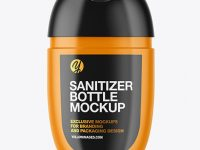 Glossy Sanitizer Bottle Mockup