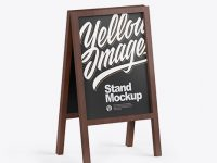Wooden Street Stand Mockup