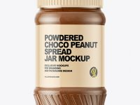 Powdered Choco Peanut Spread Jar Mockup