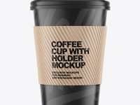 Coffee Cup w/ Holder Mockup