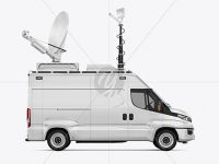 TV Van Mockup - Side View